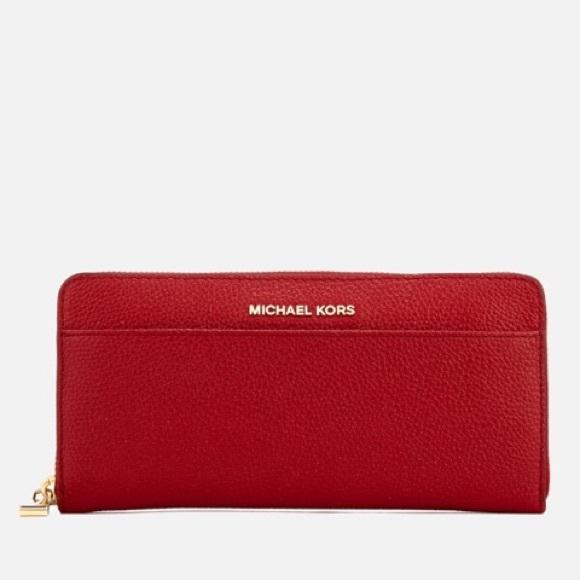 604b703f736668 Michael Kors Bags | Mercer Bright Red Continental Wallet | Poshmark